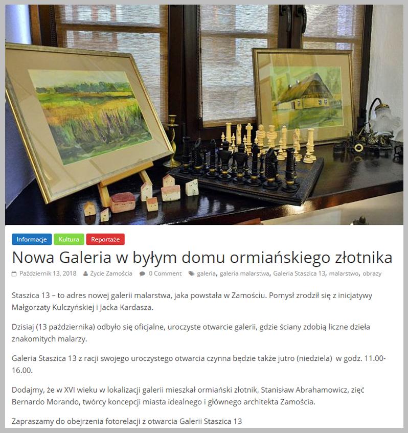 Nowa Galeria w byłym domu ormiańskiego złotnika